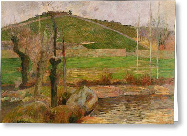 Landscape Near Pont Aven Greeting Card by Paul Gauguin