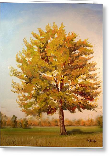 Landscape Oil Painting Greeting Card