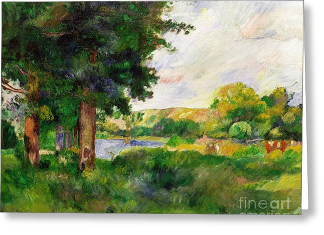 Rural Landscapes Greeting Cards - Landscape Greeting Card by Paul Cezanne