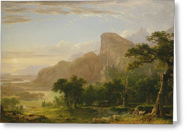 Landscape Scene From Thanatopsis Greeting Card by Asher Brown Durand