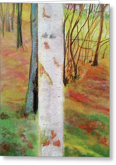 Landscape Silver Birch Greeting Card