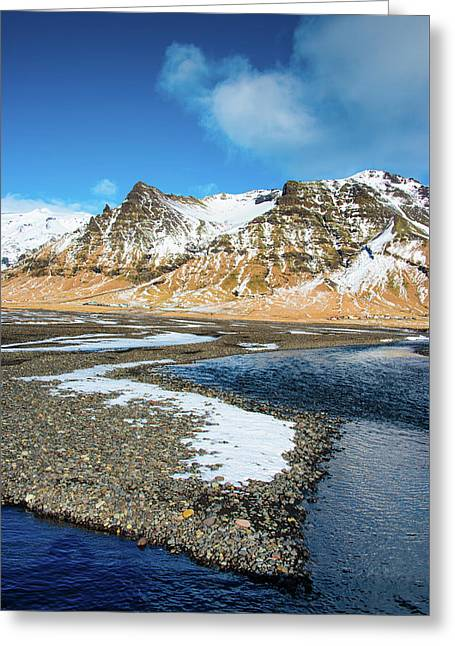 Greeting Card featuring the photograph Landscape Sudurland South Iceland by Matthias Hauser