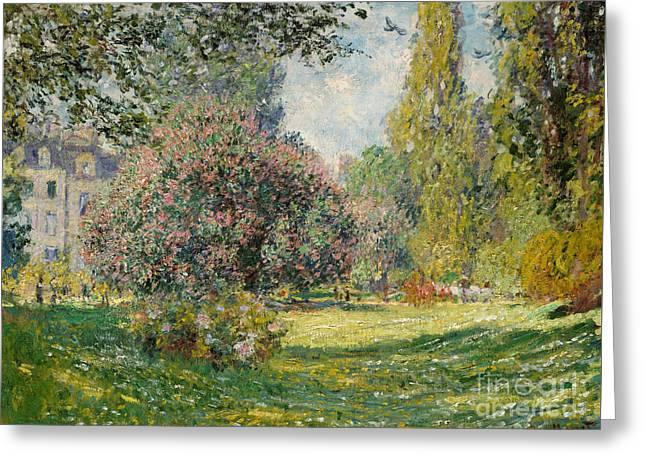 Landscape  The Parc Monceau, 1876  Greeting Card by Claude Monet
