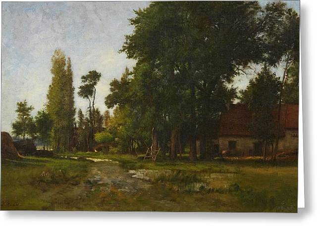 Landscape With A Farmstead Greeting Card
