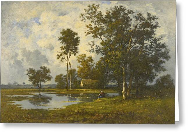 Landscape With A Quiet Pool Greeting Card