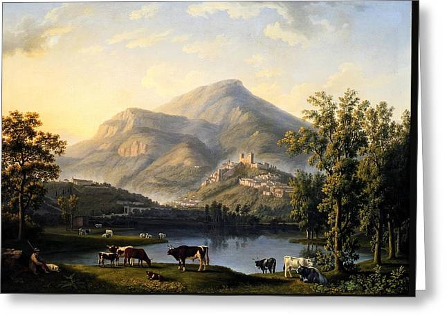 Landscape With A View Of Itri Greeting Card by Mountain Dreams