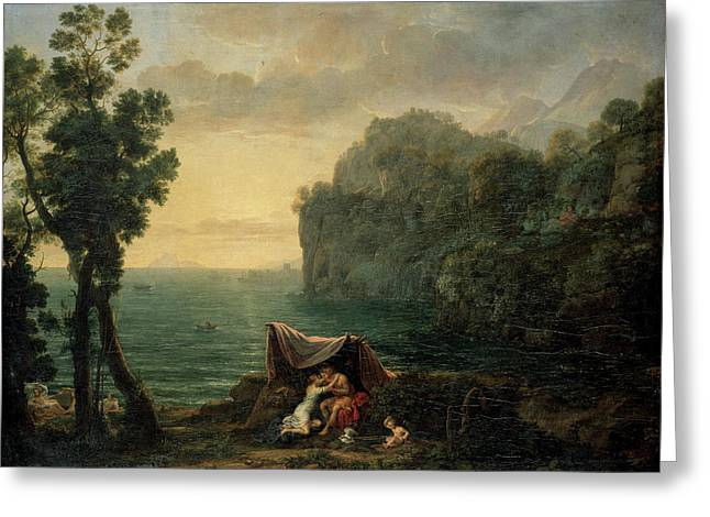 Landscape With Acis And Galatea Greeting Card by Claude Lorrain
