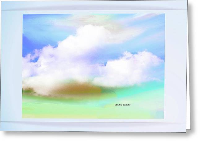 Landscape With Clouds Greeting Card by Lenore Senior