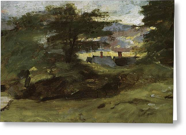 Landscape With Cottages Greeting Card