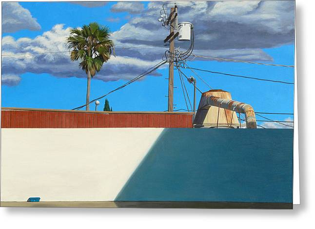 Photorealism Greeting Cards - Landscape with Cyclone Greeting Card by Michael Ward