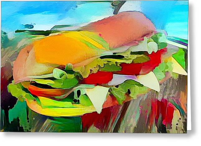 Landscape With Filled Roll Greeting Card by Roger Smith