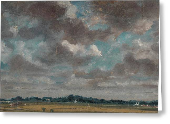 Landscape With Grey Clouds Greeting Card by MotionAge Designs