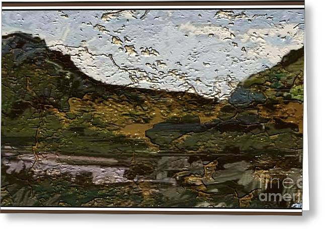 Landscape With Hills 2 Greeting Card by Pemaro