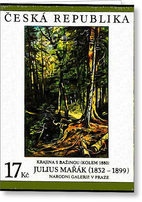 Landscape With Marsh Greeting Card