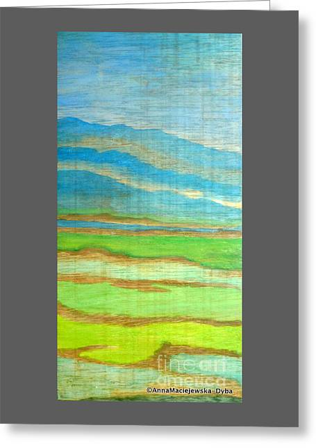 Landscape With Mountains Greeting Card