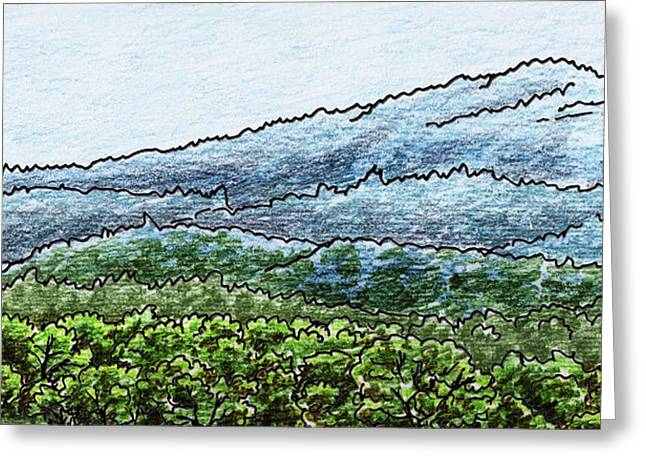 Landscape With Shenandoah Mountains Greeting Card