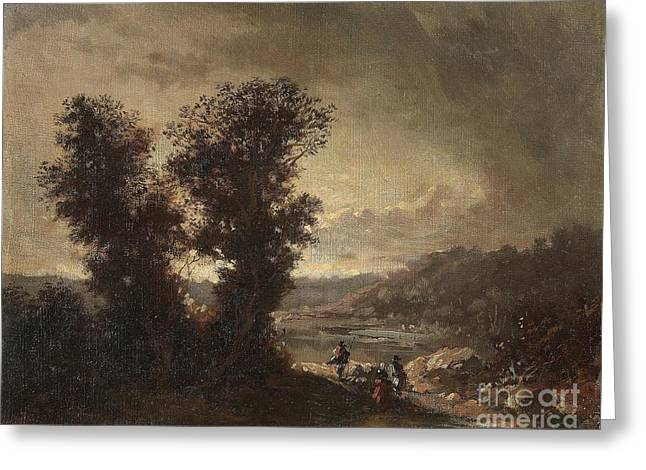 Landscape With Travellers Greeting Card
