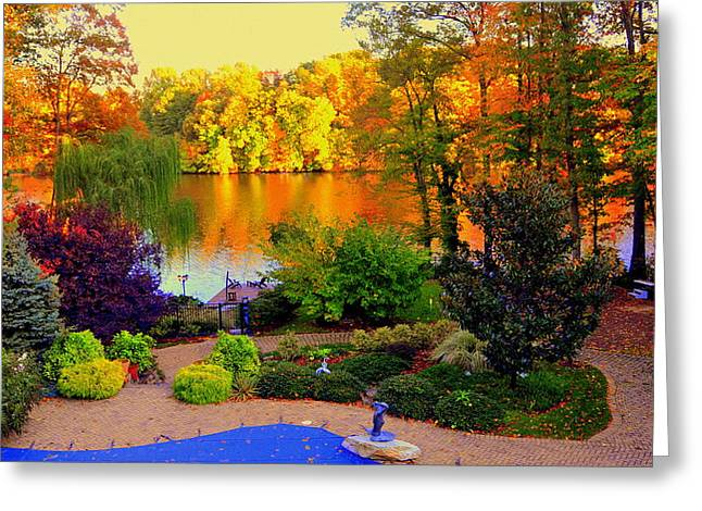 Landscaped Grounds Greeting Card
