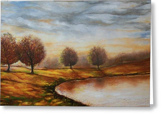 Greeting Card featuring the painting Landscapes by Emery Franklin