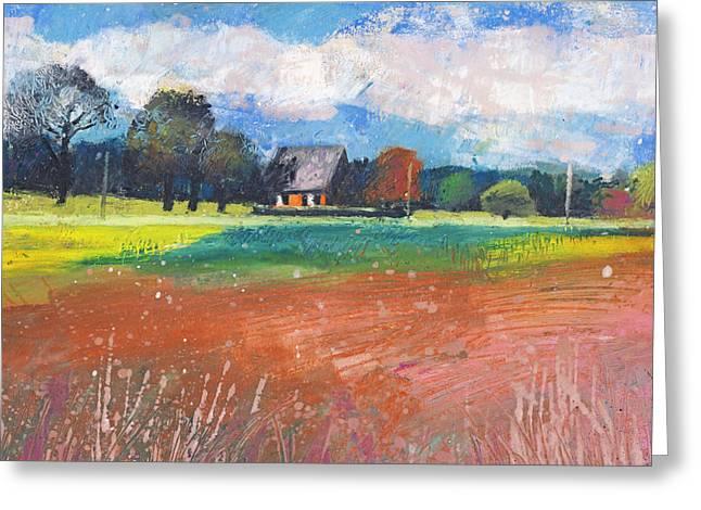Landschaft Bei Hamminkeln Greeting Card by Martin Stankewitz