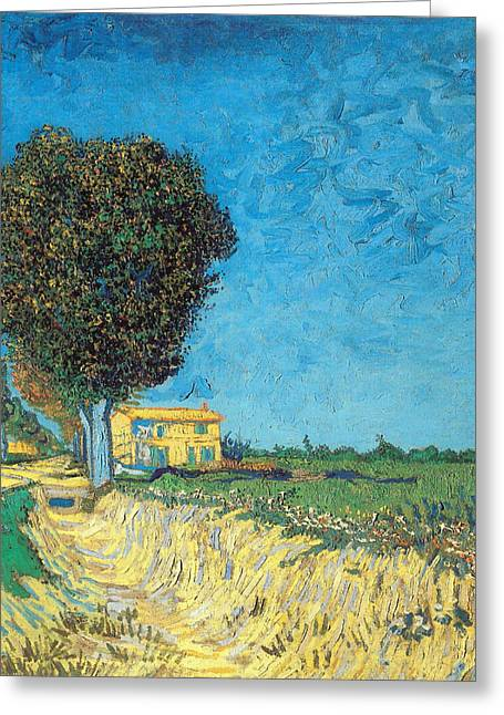 Greeting Card featuring the painting Lane Near Arles by Van Gogh