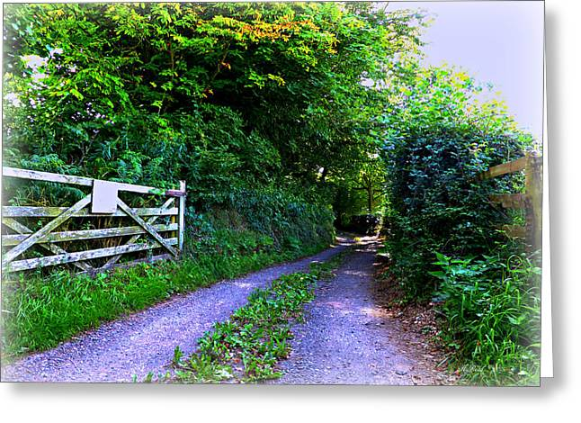 Lane Near Monmouth Greeting Card