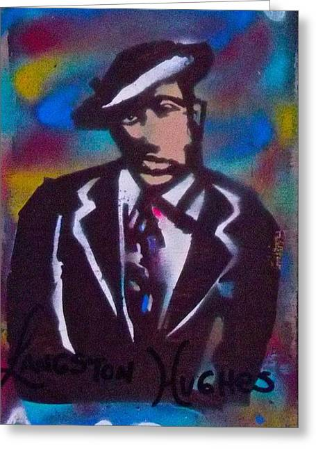 Langston Blues Greeting Card by Tony B Conscious