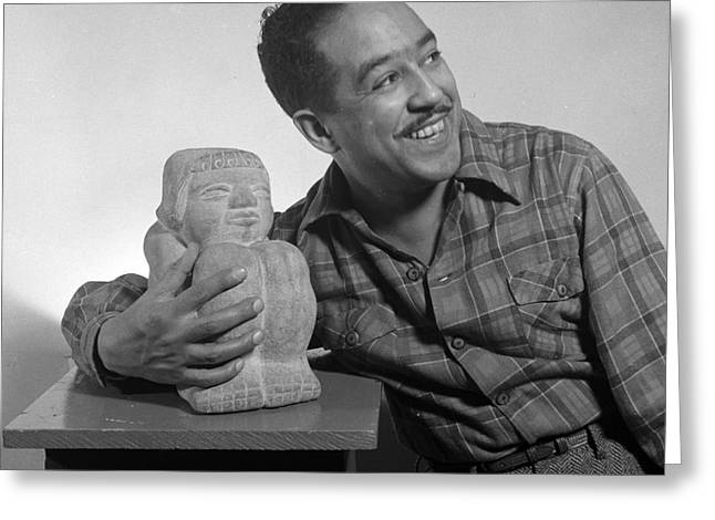 Langston Hughes, American Poet Greeting Card by Science Source