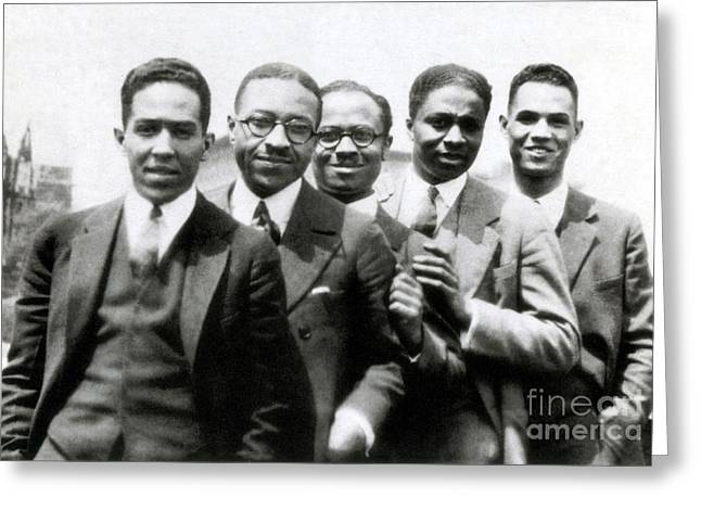 Langston Hughes And Friends, 1924 Greeting Card by Science Source
