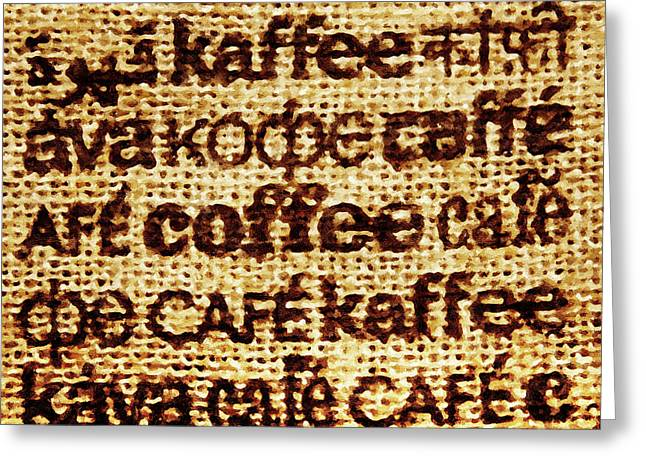 Language Of Coffee Greeting Card
