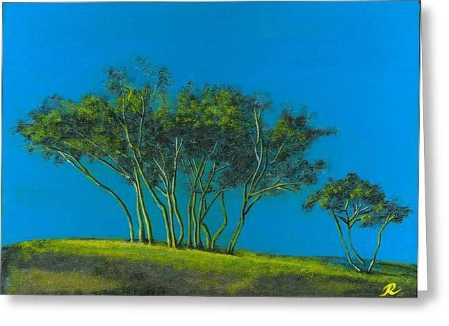 Languedoc Trees Greeting Card by Robin Marshall