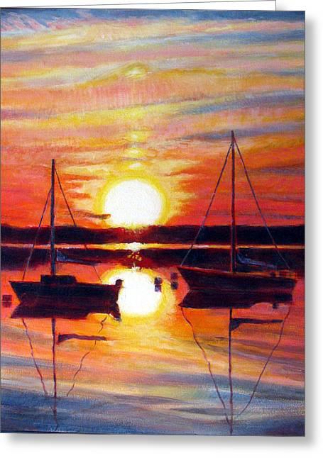 Languid Sunset Greeting Card