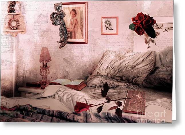 Languish Greeting Card by Mindy Sommers