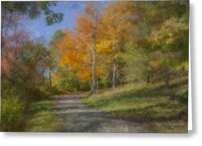 Langwater Path In October Greeting Card