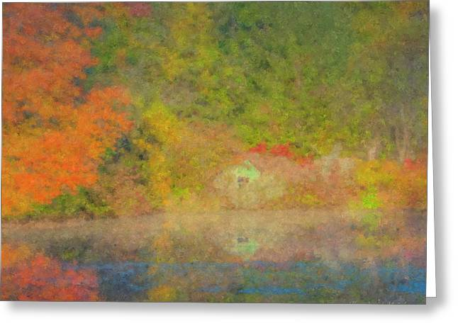 Langwater Pond Boathouse October 2015 Greeting Card