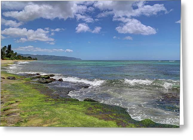 Laniakea Beach Where The Turtles Live Greeting Card