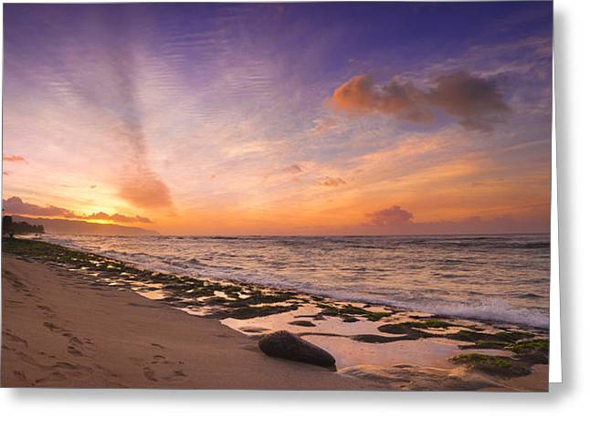 Laniakea Sunset Greeting Card