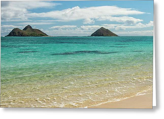 Lanikai Beach 4 Pano - Oahu Hawaii Greeting Card