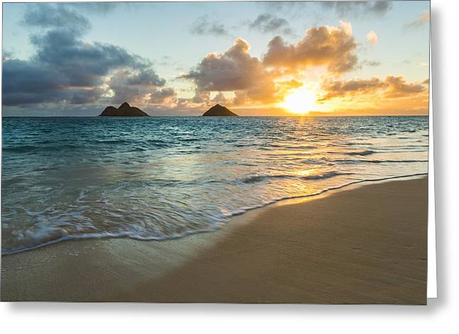 Lanikai Beach Sunrise 2 Greeting Card