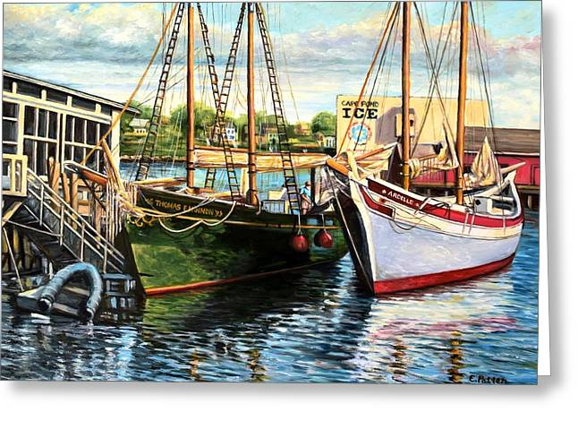 Lannon And Ardelle Gloucester Ma Greeting Card