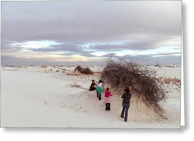 Exploring The Dunes Greeting Card