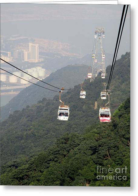 Greeting Card featuring the photograph Lantau Island 53 by Randall Weidner