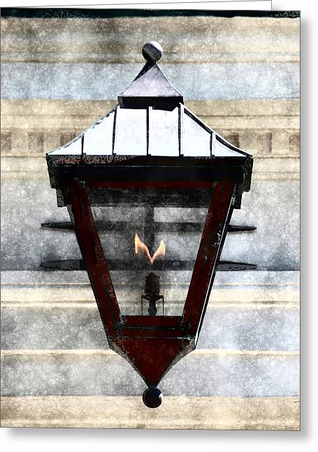 Lantern 13 Greeting Card by Donna Bentley