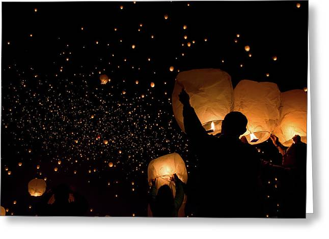 Lantern Fest Group Greeting Card