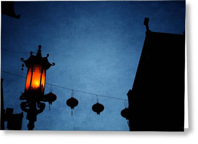 Lanterns- Art By Linda Woods Greeting Card