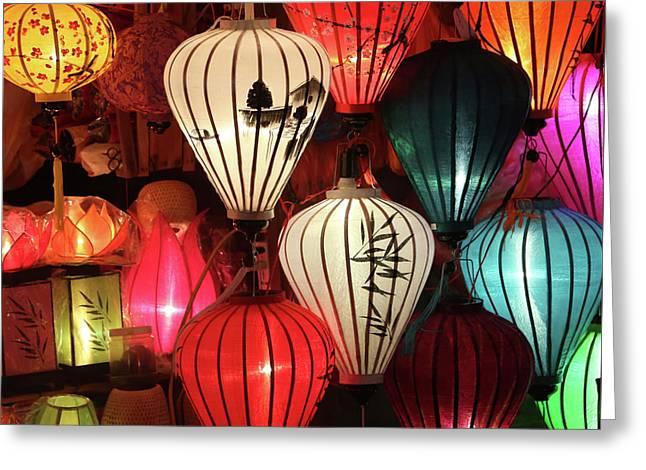Lanterns Colors Hoi An Greeting Card