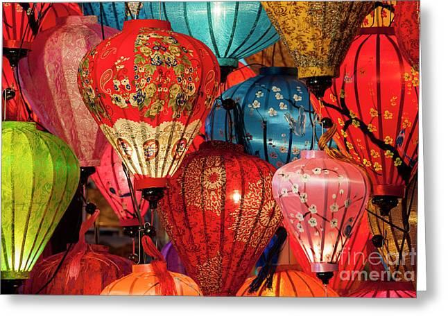 Lanterns Greeting Card by Timm Chapman