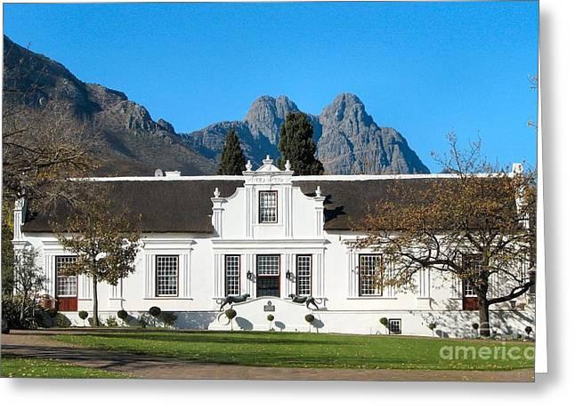 Lanzerac Stellenbosch Greeting Card by Heather Nel
