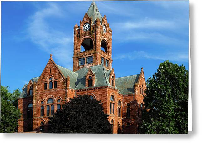 Laporte County Courthouse - Indiana Greeting Card by Mountain Dreams