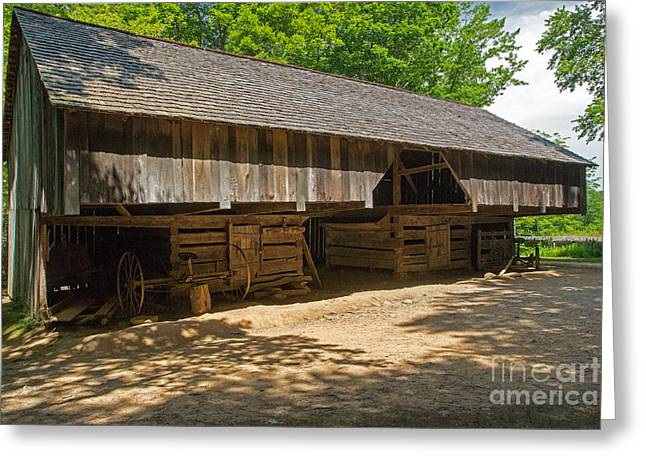 Laquire Cantilever Barn Greeting Card by Fred Stearns